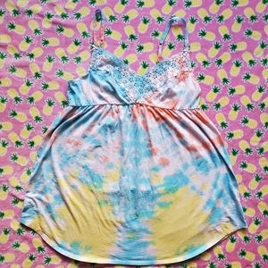 Victoria Secret Pastel Dream Night Gown Custom Dye